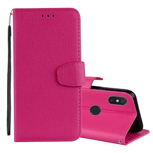 Litchi Texture Horizontal Flip Leather Case for Xiaomi Mi 8 SE , with Wallet & Holder & Card Slots & Lanyard (Rose Red) ...