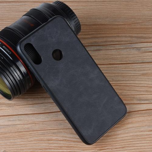 Shockproof Sheep Skin PC + PU + TPU Case for Xiaomi Redmi 7 (Black)