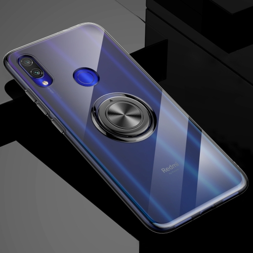 Ultra-thin TPU Protective Case for Xiaomi Redmi Note 7, with 360 Degree Rotation Holder (Black)