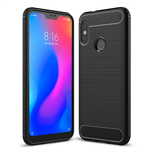 Brushed Texture Carbon Fiber Shockproof TPU Case for Xiaomi Redmi 6 Pro (Black) tpu shockproof case for xiaomi redmi 6 pro black