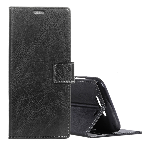 Retro Crazy Horse Texture Horizontal Flip Leather Case for Xiaomi Black Shark, with Holder & Card Slots & Photo Frame(Black) 8 in 1 memory card storage case holder for ps vita translucent black