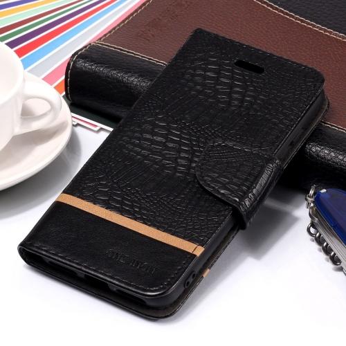 Crocodile Texture Horizontal Flip Leather Case for Xiaomi Redmi 6 Pro / MI A2 lite, with Holder & Card Slots(Black)
