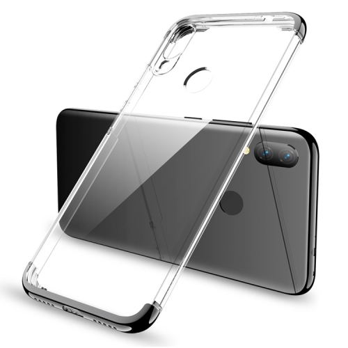 GKK Electroplating Transparent Case for Xiaomi Redmi Note 7 (Black)
