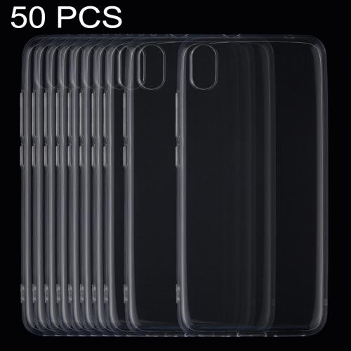 50 PCS 0.75mm Ultrathin Transparent TPU Soft Protective Case for Xiaomi Redmi 7A