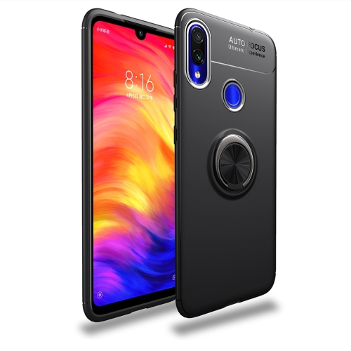 lenuo Shockproof TPU Case for Xiaomi Redmi Note 7, with Invisible Holder (Black)