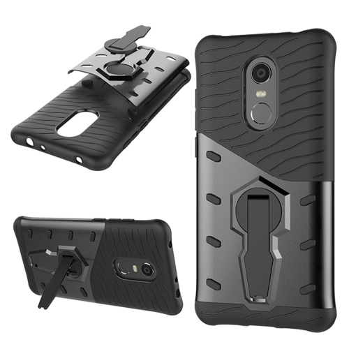 For Xiaomi Redmi 5 Plus PC + TPU Dropproof Sniper Hybrid Protective Back Case with 360 Degree Rotation Holder(Black) sniper tactical wkp 1 5 6x44sal riflescope glass etched reticle hunting optics sight with rg illuminated with bubble level scope