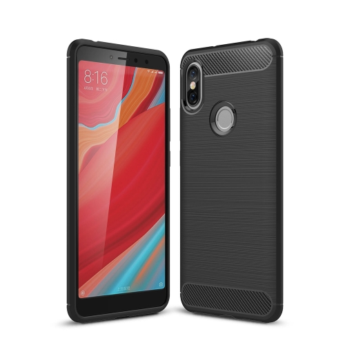 Brushed Texture Carbon Fiber Shockproof TPU Case for Xiaomi Redmi S2 (Black) tpu shockproof case for xiaomi redmi 6 pro black