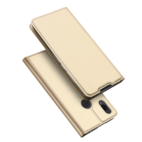 DUX DUCIS Skin Pro Series Horizontal Flip PU + TPU Leather Case for Xiaomi Redmi Note 7 & Note 7 Pro, with Holder & Card Slots (Gold)