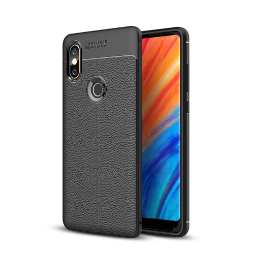 For Xiaomi MI Mix 2S Litchi Texture Soft TPU Protective Case (Black) protective pu leather tpu case for xiaomi mi 2 purple black