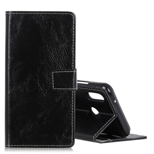 Retro Crazy Horse Texture Horizontal Flip Leather Case for Xiaomi Redmi 7, with Holder & Card Slots & Photo Frame (Black)