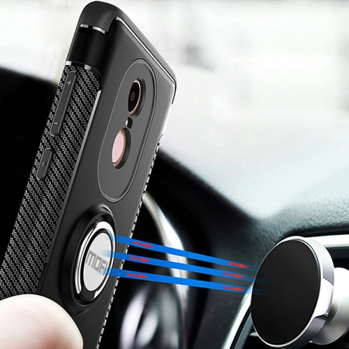 Buy MOFI Mysterious Series Xiaomi Redmi Note 4X Shockproof Protective Back Cover Case with Magnetic Rotatable Ring Holder, Black for $3.96 in SUNSKY store