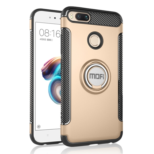 Buy MOFI Mysterious Series Xiaomi Mi 5X Shockproof Protective Back Cover Case with Magnetic Rotatable Ring Holder, Gold for $3.96 in SUNSKY store