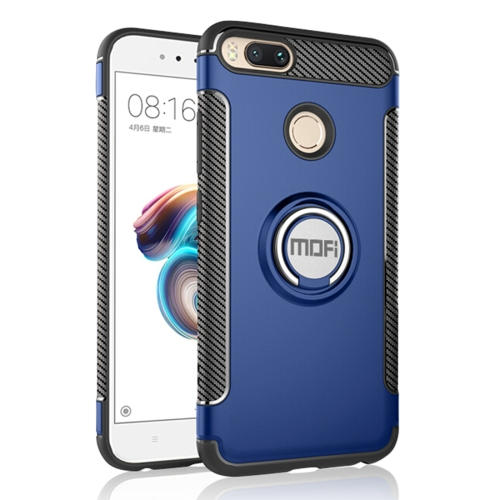 Buy MOFI Mysterious Series Xiaomi Mi 5X Shockproof Protective Back Cover Case with Magnetic Rotatable Ring Holder, Blue for $3.96 in SUNSKY store