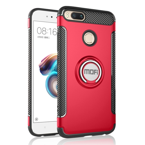 Buy MOFI Mysterious Series Xiaomi Mi 5X Shockproof Protective Back Cover Case with Magnetic Rotatable Ring Holder, Red for $3.96 in SUNSKY store