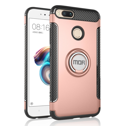 Buy MOFI Mysterious Series Xiaomi Mi 5X Shockproof Protective Back Cover Case with Magnetic Rotatable Ring Holder (Rose Gold) for $3.96 in SUNSKY store