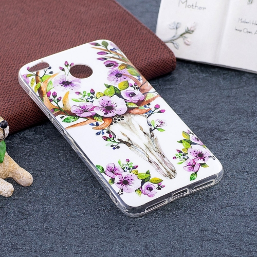 Buy Xiaomi Redmi 4X Noctilucent Sika Deer Pattern TPU Soft Back Case Protective Cover for $1.40 in SUNSKY store