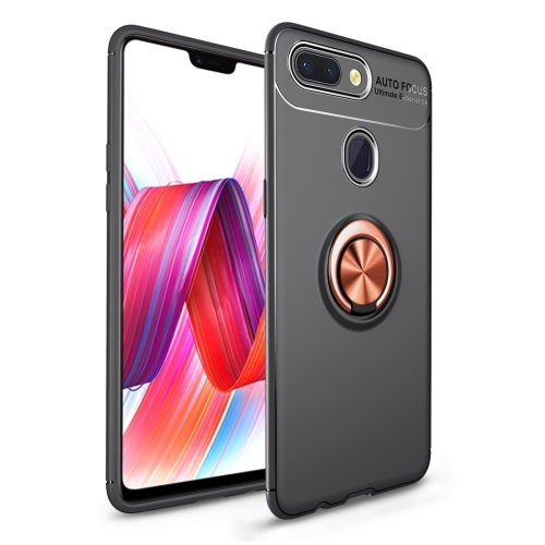 Shockproof TPU Case for   Xiaomi Mi 8 Lite, with Holder (Black Gold)