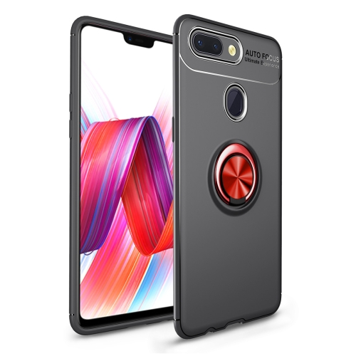 Shockproof TPU Case for   Xiaomi Mi 8 Lite, with Holder (Black Red)