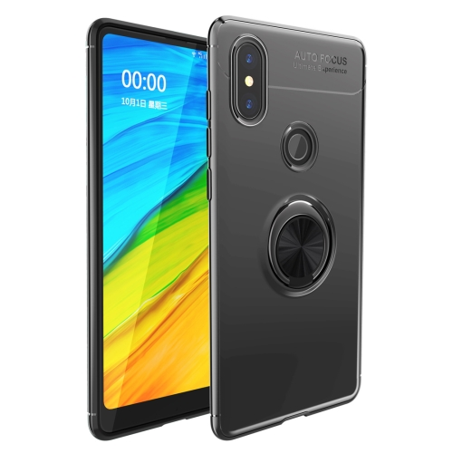 Shockproof TPU Case for   Xiaomi Redmi Note 6 Pro, with Holder (Black)