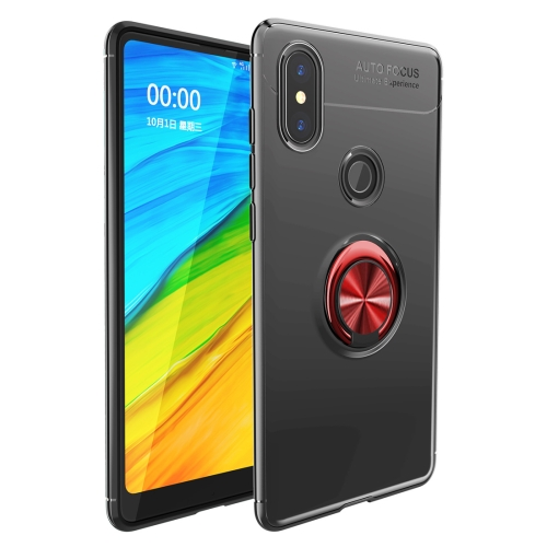 Shockproof TPU Case for   Xiaomi Redmi Note 6 Pro, with Holder (Black Red)