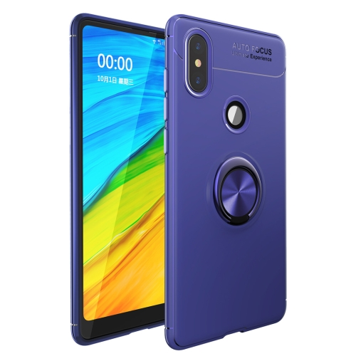 Shockproof TPU Case for   Xiaomi Redmi Note 6 Pro, with Holder (Blue)