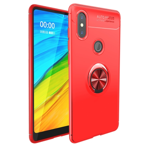 Shockproof TPU Case for   Xiaomi Redmi Note 6 Pro, with Holder (Red)