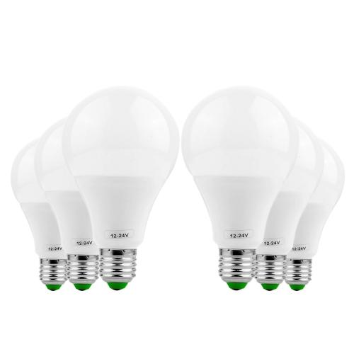YWXLight 6PCS E27 9W AC/DC 12-24V 18LEDs 5730SMD LED Bulb (Cold white)