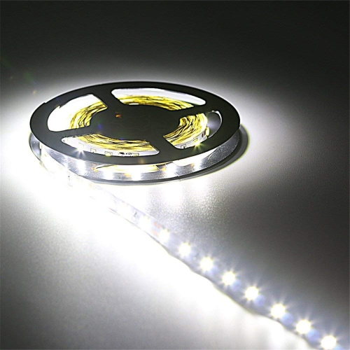 YWXLight 5M LED Strip Lights,2835SMD Non-Waterproof LED Strip DC 12V 300LED LED Light Strips (Cold White)