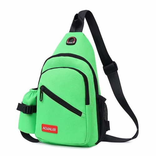 Multi-Function Portable Casual Chest Bag Outdoor Sports Shoulder Bag (Green)
