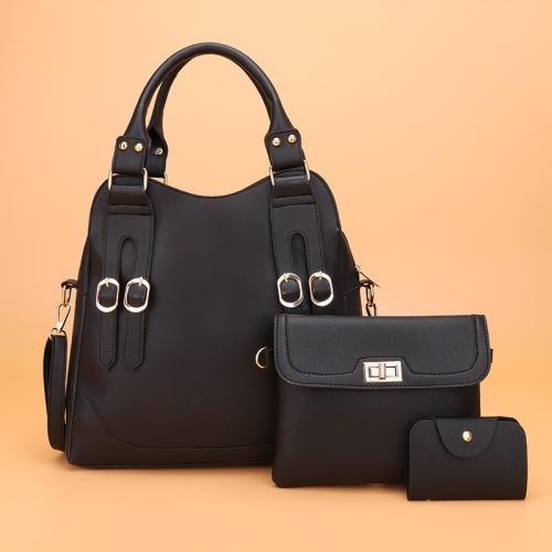 3 in 1 Casual PU Shoulder Bag Ladies Handbag Messenger Bag