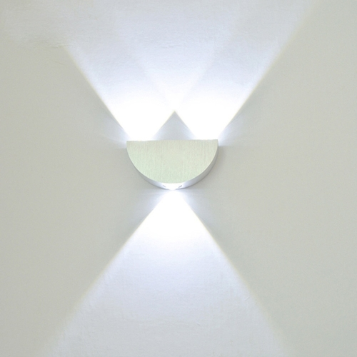 YWXLight 3W Living Room Bedroom Hallway Conservatory LED Wall Sconce Fixture Lamp (Cool White)