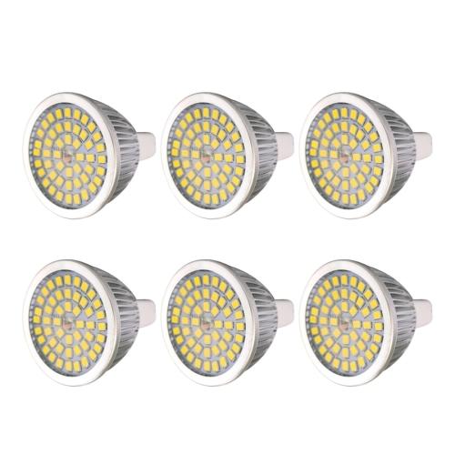 6 PCS YWXLight 7W 2835SMD LED Light Bulb MR16 Medium Standard Base LED Spotlight, AC/DC 12V (Natural White)