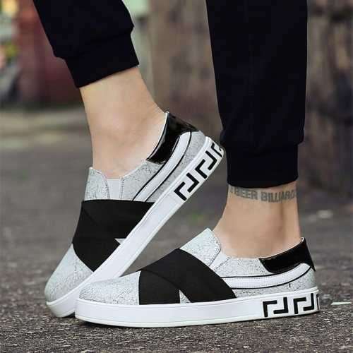 Outdoor Low-cut Shock Absorbing Fashion Sport Casual Shoes for Men (Color:Gray Black Size:39)