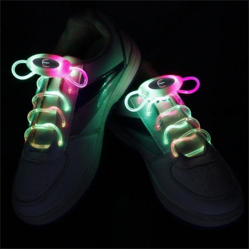 YWXLight 1 Pair 2W 80cm Glow Shoelaces LED Sport Shoe Laces Glow Stick Flashing Neon Luminous (RGB)