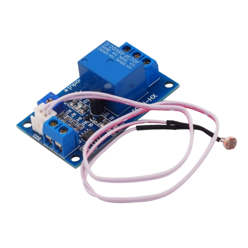LDTR-WG0225 DC12V Photosensitive Resistor Module Light Control Switch Photosensitive Relay Power Module with Probe Cable, Automatic Control Brightness with Reverse Connection Protection Function (Blue)
