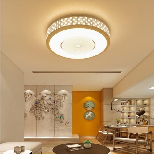 36W Modern Minimalist Round Living Room Lamp Dining Room Bedroom Highlight Chip White Light LED Ceiling Light, Diameter: 52cm