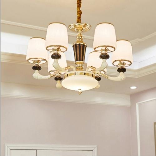 Atmosphere Zinc Alloy Garden Bedroom Simple Villa Duplex Restaurant Living Room Lamps, 6 Heads