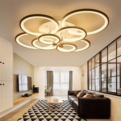 74W Creative Round Modern Art LED Ceiling Lamp, 8 Heads(Warm White)