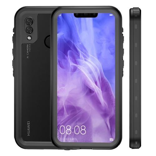 2m Waterproof 2m Shockproof Dustproof PC+TPU Case for Huawei P20 Lite (Black)