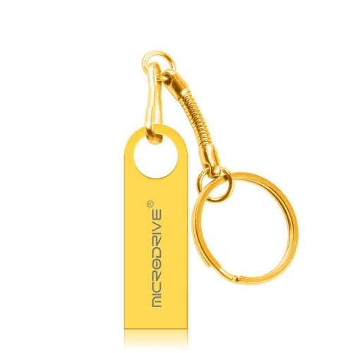 MicroDrive 16GB USB 2.0 Metal Waterproof High Speed U Disk(Gold)