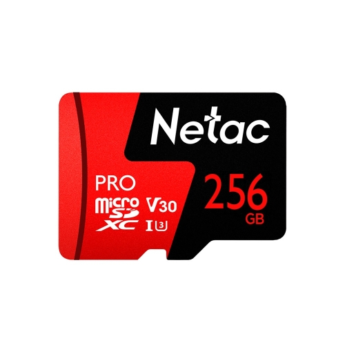 Netac P500 PRO 256GB U3 Speed Level Automobile Data Recorder Monitor Camera Memory Card TF Card