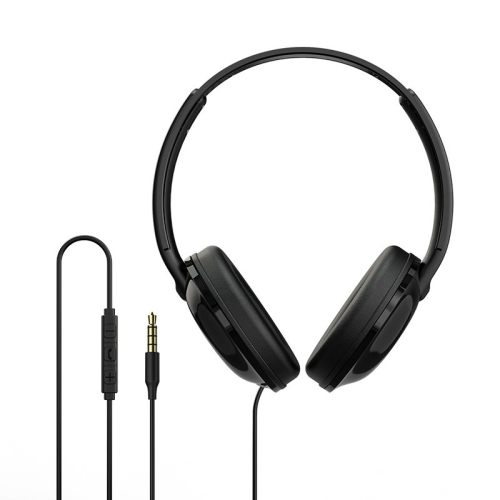 Borofone BO1 Sound 3.5mm In-line Control Wired Headset Headphone with Mic (Black)