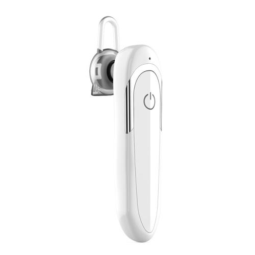 Moloke D5 Hanging Ear Type Business Bluetooth Waterproof Anti-sweat Noise Reduction Earphone HiFi Sound Headset (White)