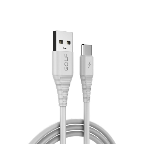 GOLF GC-64c USB-C / Type-C to USB 3A Fast Charging USB Data Cable for Galaxy S8 & S8+ / LG G6 / Huawei P10 & P10 Plus / Xiaomi Mi 6 & Max 2 and other Smartphones (White)