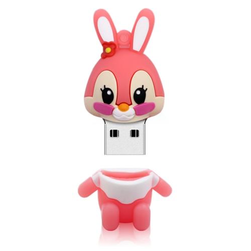 MicroDrive 16GB USB 2.0 Creative Cute Rabbit U Disk (Pink)