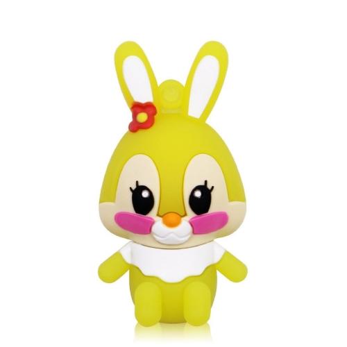 MicroDrive 128GB USB 2.0 Creative Cute Rabbit U Disk (Yellow)