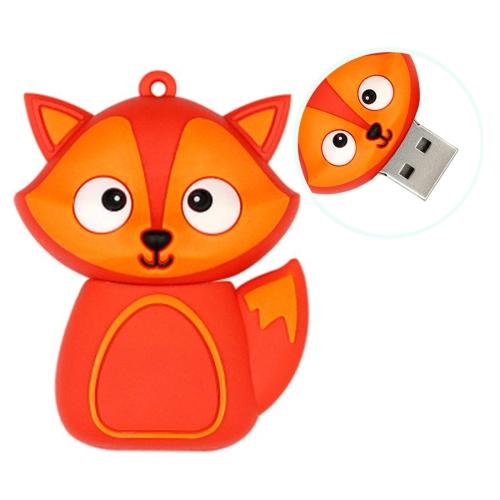 MicroDrive 16GB USB 2.0 Creative Cute Fox U Disk