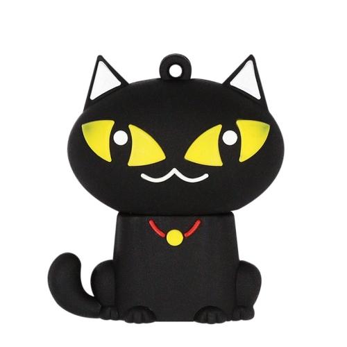 MicroDrive 64GB USB 2.0 Creative Cute Black Cat U Disk
