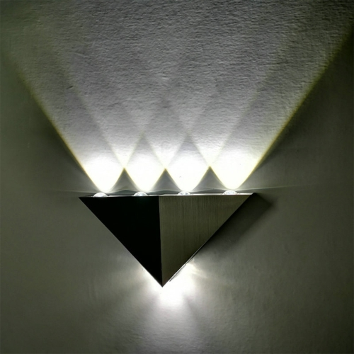 YWXLight 5W Triangle Creative LED Wall Lamp Corridor Aisle Lights Bar Bedroom Living Room Wall Decoration Light (White Light)