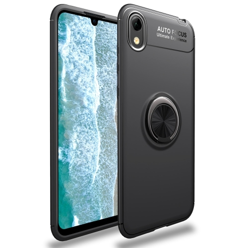 Lenuo Shockproof TPU Case for Huawei Honor 8S / Y5 (2019), with Invisible Holder (Black)